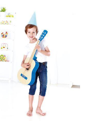 Chitarra in Legno per Bambini Colore Azzurro Hape