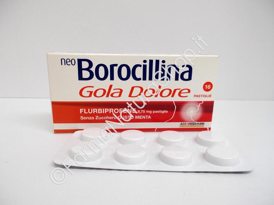 NEO BOROCILLINA GOLA DOLORE 8,75 mg pastiglie senza zucchero gusto menta