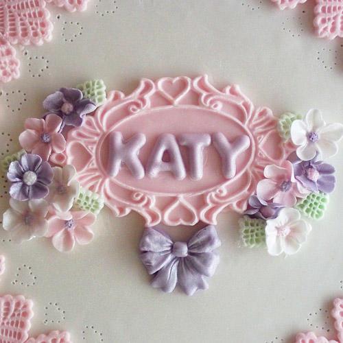 stampo silicone placchetta ovale Katie Sue