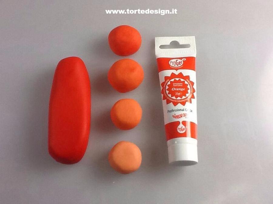 colore alimentare concentrato gel Rainbowdust Progel arancione