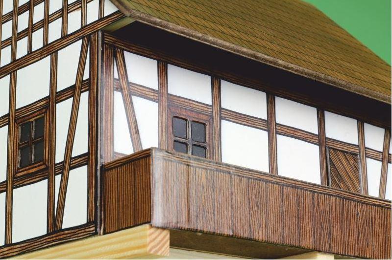 Costruzioni in Legno Naturale Granaio a Graticcio di Walachia Kit da 115 Pezzi