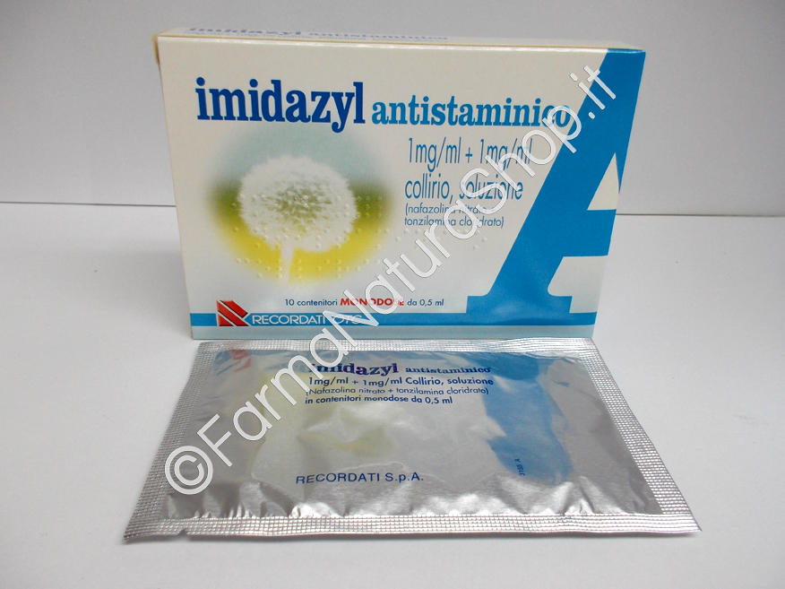 IMIDAZYL ANTISTAMINICO 1 mg / ml + 1 mg / ml collirio