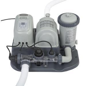 Pompa filtro per piscine Clorinatore Generatore di Cloro 5 gr/h con Sistema Alghicida per Pompe Filtro da 2,650/15,140 Lt/h 28674