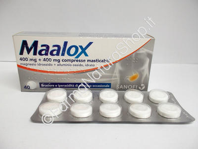 MAALOX 400 mg + 400 mg compresse masticabili