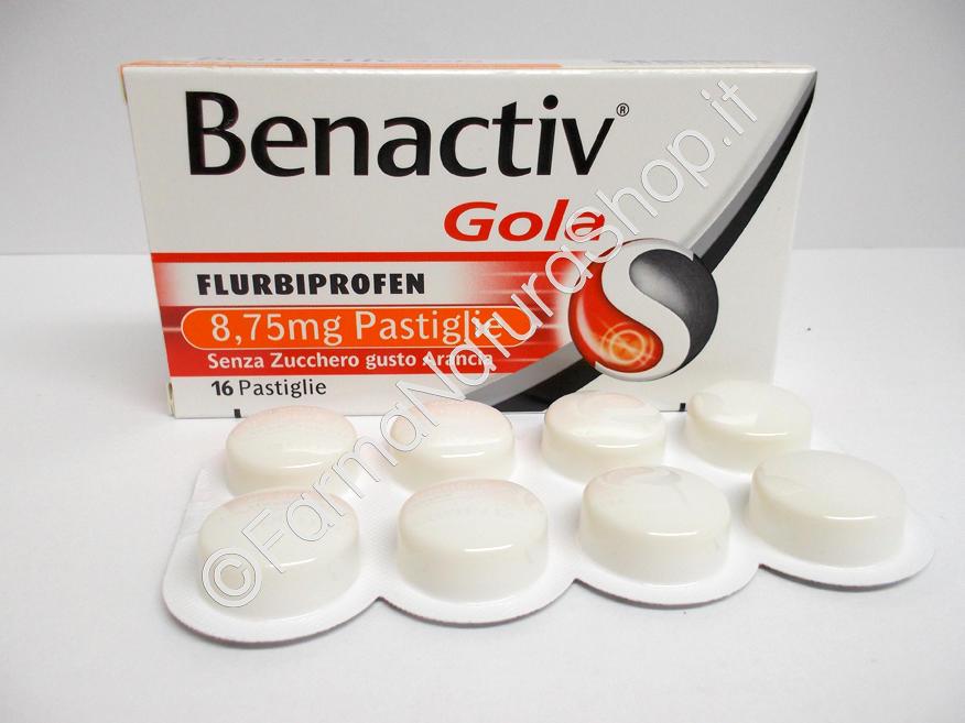 BENACTIV GOLA 8,75 mg Pastiglie