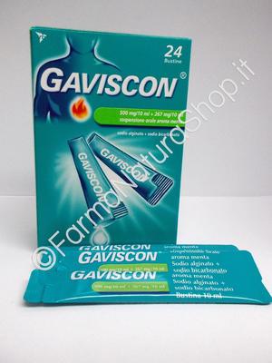 GAVISCON 500 mg/10 ml + 267 mg/10 ml sospensione orale aroma menta