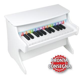 Pianoforte Bianco per Bambini in Legno di Legler