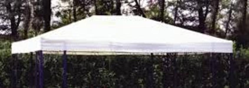 Telo ricambio Universale in PVC  textilene per Gazebo Telone pesante impermeabile beige telo di ricambio con bordo per gazebo gazebi mt. 3x4 in impermeabile ALBASCURACOVER34
