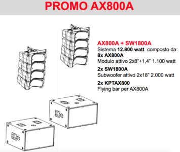 Proel AXIOM AX800A KIT Line Array attivo