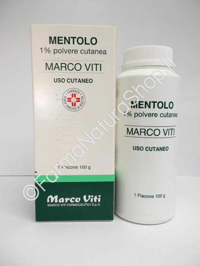 MENTOLO Marco Viti 1% polvere cutanea