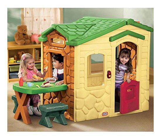 Casetta little tikes casa del picnic 9017298 da 3 a 9 anni for Case per bambini da giardino