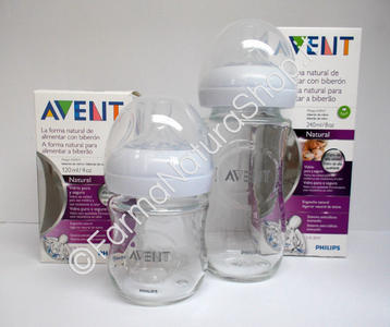 AVENT Biberon Natural in Vetro 120 - 240 ml