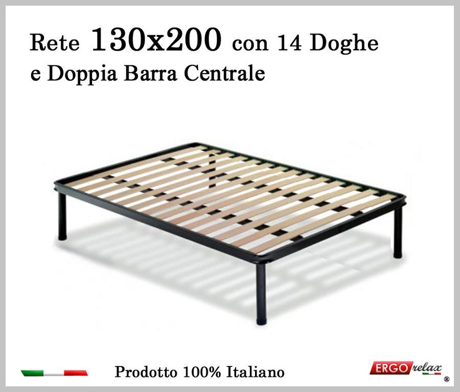 Rete per materasso a 14 doghe in faggio VIENNA 130x200 con Doppia Barra Centrale cm. 100% Made in  Italy