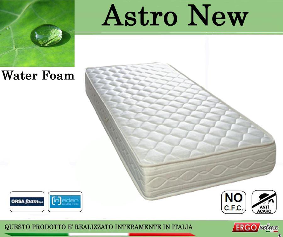Materasso Water Foam Mod. Astro New da Cm. 150x190/195/200 Poliuretano Espanso Altezza Cm. 20 - Ergorelax