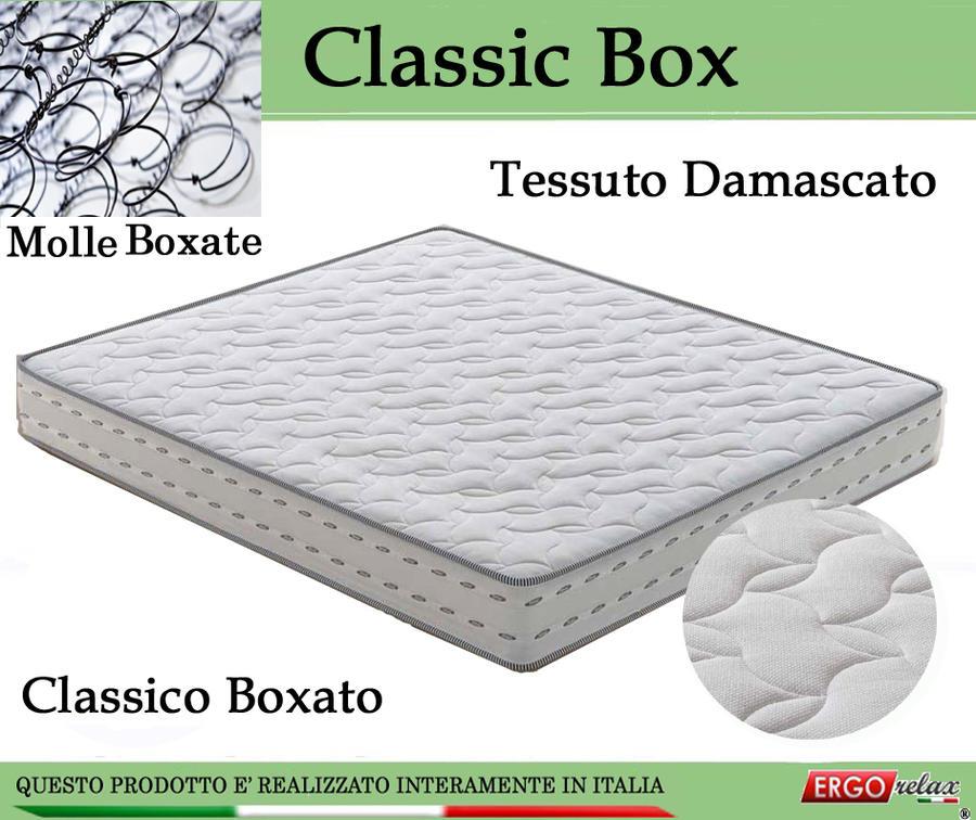 Materasso a Molle Bonnel Mod. Classic Box Matrimoniale da Cm 160x190/195/200 Fascia TreD Altezza C 21 - Ergorelax