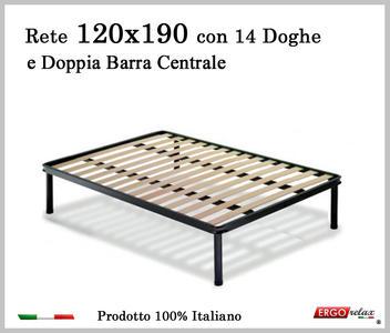 Rete per materasso a 14 doghe in faggio VIENNA 120x190 con Doppia Barra Centrale cm. 100% Made in  Italy