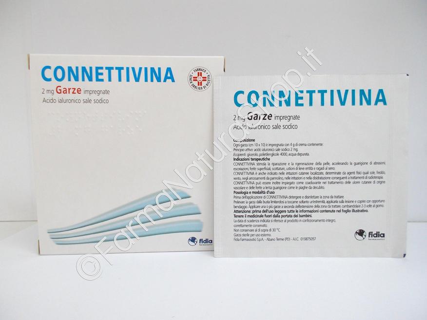 CONNETTIVINA  2 mg Garze  impregnate