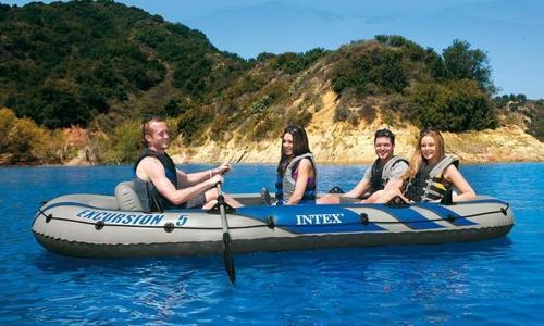 Gommone Canotto Gonfiabile INTEX 68325 EXCURSION 5 Set Mare Pesca Lago Fiume 366 x 168 x 43 cm
