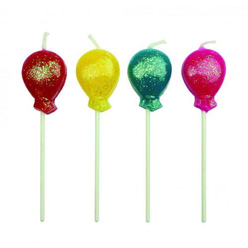 Set 8 candeline palloncini multicolore