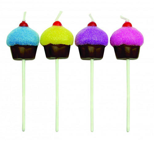 Set 8 candeline cupcakes multicolore