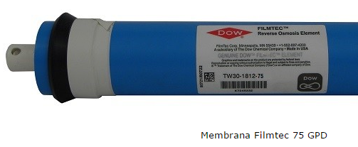 Membrana Osmosi Inversa 75 GPD Filmtec