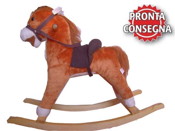 """Cavallo a Dondolo """"Furia"""" in Legno Naturale e Tessuto di Mister Wood"""
