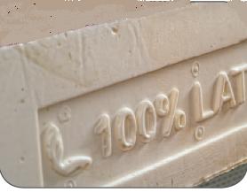 Materasso in Lattice Mod. Nuvola da Cm 150 Soya Sfoderabile Zone Differenziate Altezza Cm. 22 - Ergorelax