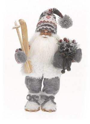 Babbo Natale con Maglione Sci e Pacco Regali RF Collection Qualità Made in Germany