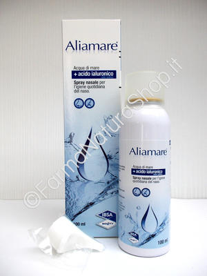 ALIAMARE SPRAY Acqua di Mare Isotonica + Acido Ialuronico