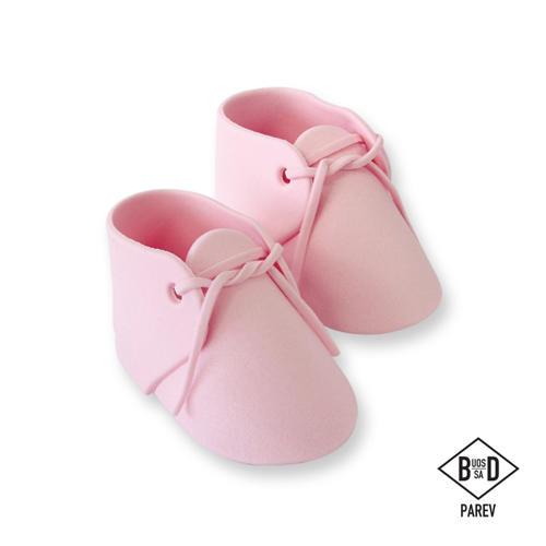 Scarpette bebè rosa pasta di zucchero Pme
