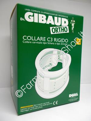 GIBAUD Collare C3 Rigido - Collare Cervicale Tipo Schanz o Zimmer