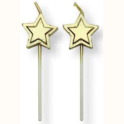 Set 8 candeline stella dorata