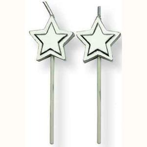 Set 8 candeline stella argentata
