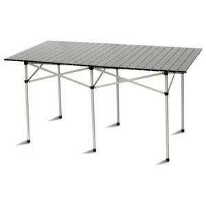 Tavolo campeggio tapparella alluminio 140x70 pieghevole salvaspazio