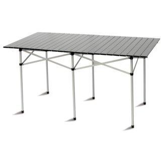 Tavolo Campeggio Alluminio Avvolgibile.Tavolo Campeggio Tapparella Alluminio 140x70 Pieghevole Salvaspazio