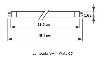 Lampada Uv 4 watt per sterilizzatore.