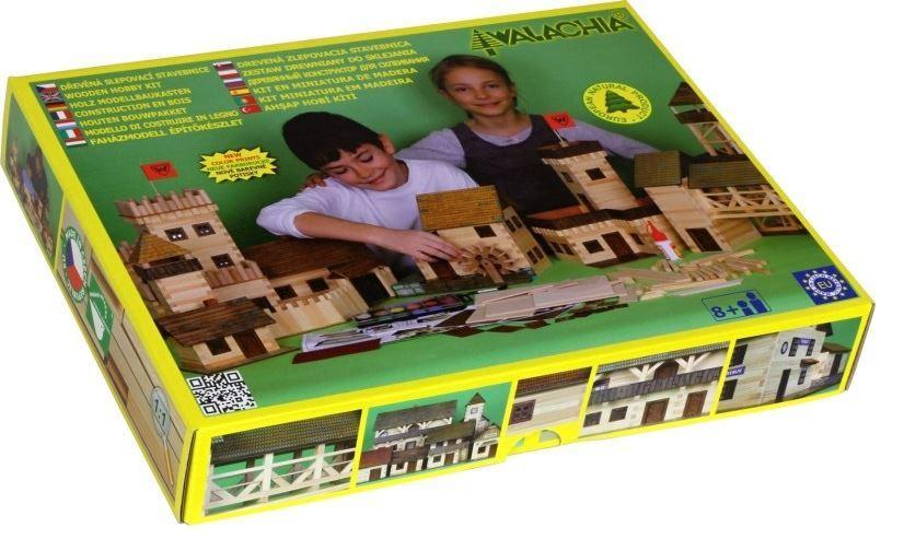 Costruzioni in Legno Naturale La Stalla di Walachia Kit da 86 Pezzi
