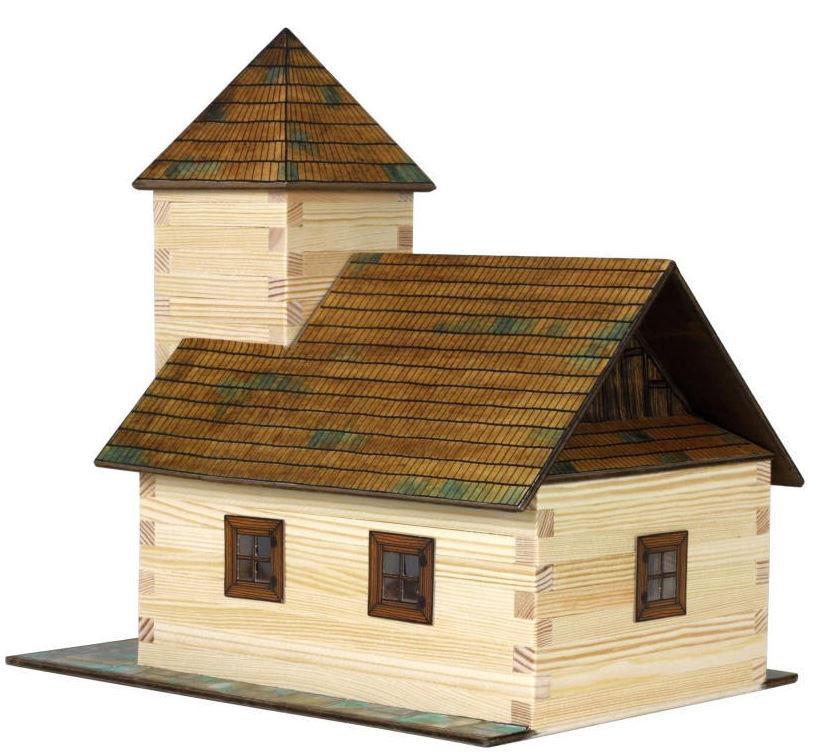 Costruzioni in Legno Naturale La Chiesa di Walachia Kit da 213 Pezzi
