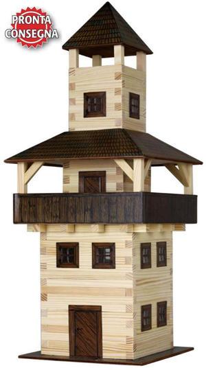 Costruzioni in Legno Naturale La Torre di Walachia Kit da 276 Pezzi