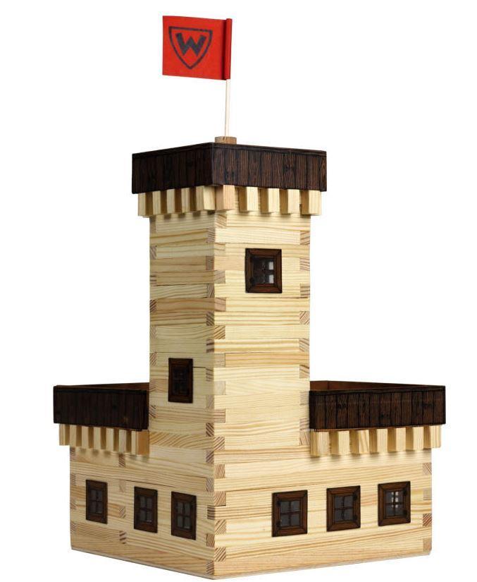 Costruzioni in Legno Naturale il Castello Estivo di Walachia Kit da 296 Pezzi