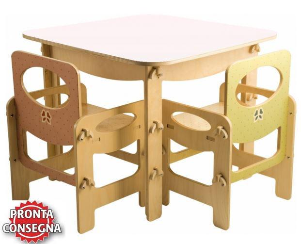 Tavolini In Legno Per Bambini : Tavolo quadrato azzurro pastello per bambini in legno naturale di dida