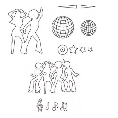 Stampo a impressione disco dancer