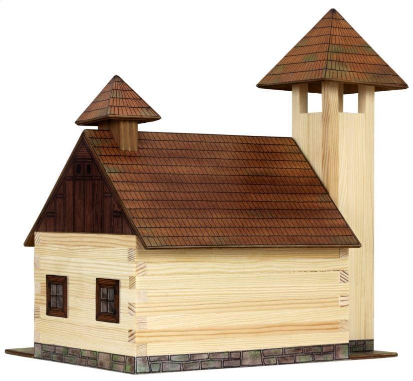 Costruzioni in Legno Naturale Caserma dei Pomieri di Walachia Kit da 128 Pezzi