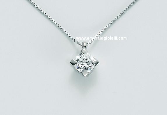 cld5065 024g7 Girocollo con Diamante centrale Miluna -