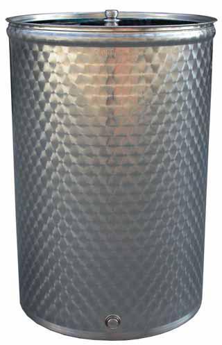 Botte Fusto serbatoio contenitore enologico lt 100 in acciaio inox per vino