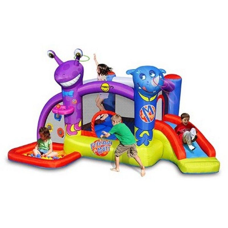 Castello gonfiabile per bambini happy hop FRIENDS ON MARS vasca palline scivolo salterello cod 9273