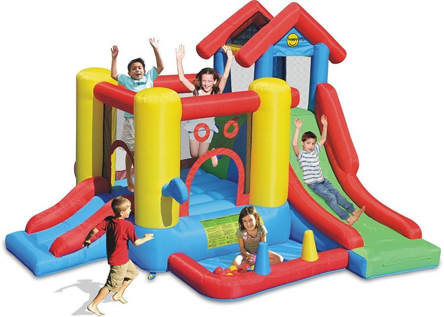 Castello gonfiabile per bambini happy hop Gioco per bambini Gonfiabile 7 Attività in 1 9019 Happy Hop 7 IN 1 codice 9019