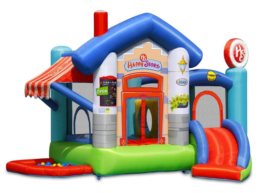 Castello gonfiabile per bambini happy hop HAPPY STORE vasca palline scivolo salterello cod 9415