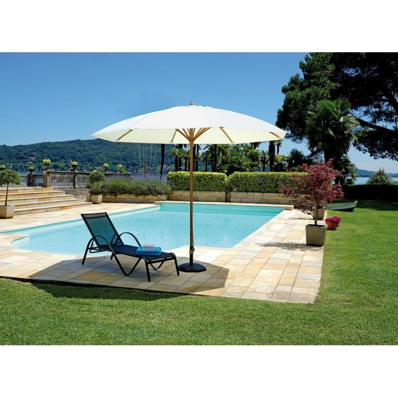 Ombrellone da giardino a CUPOLA in allumino color legno linea contract diam 330 cm color legno cod 5039