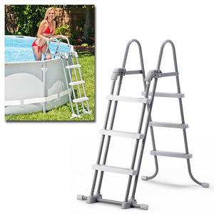 Scaletta per piscine INTEX 28072 piscine fuori terra universale acciaio Bestway 91/107 cm